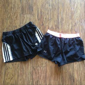 Under Armour/Adidas Athletic Shorts Bundle